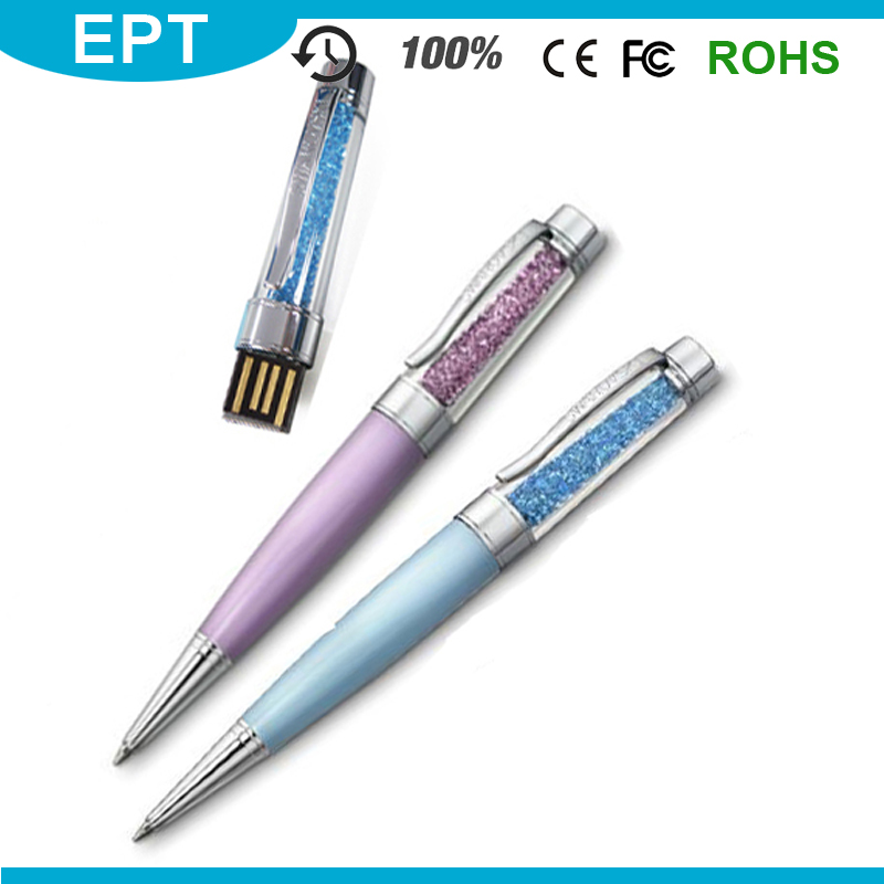 32GB Capacity and USB 2.0 Interface Type crystals usb flash pen drive