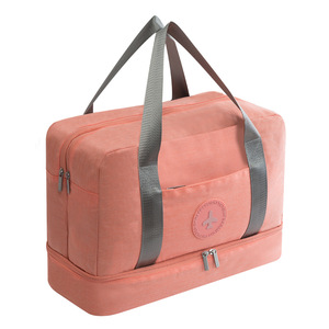 Lifetime Small Pink Ladies Womens Fitness Bag Gym Tote Bag Duffel Sports Bag with Shoe Compartment OEM