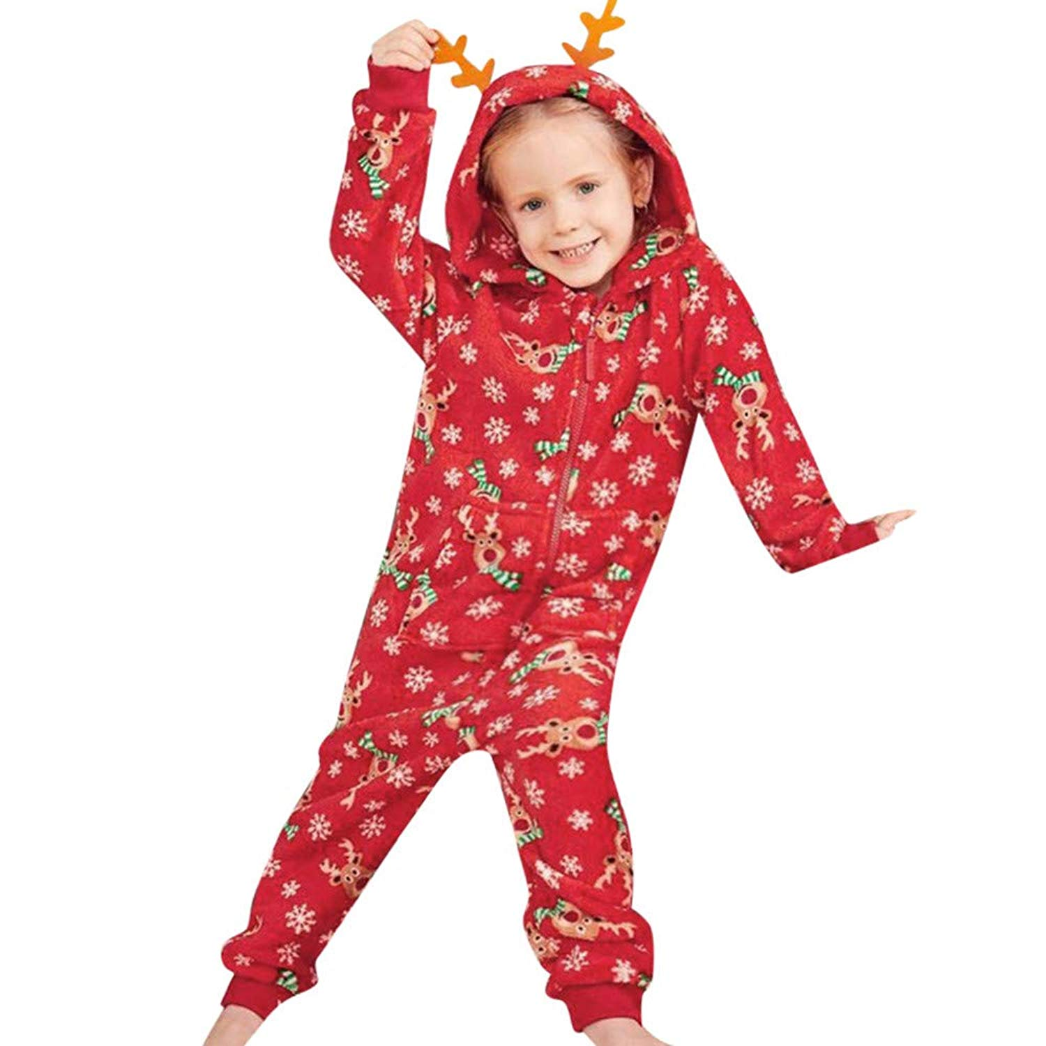 Outtop(TM) Matching Family Pajama Set,Papa Mama Kids Baby Christmas Romper Jumpsuits Family Matching Pajamas