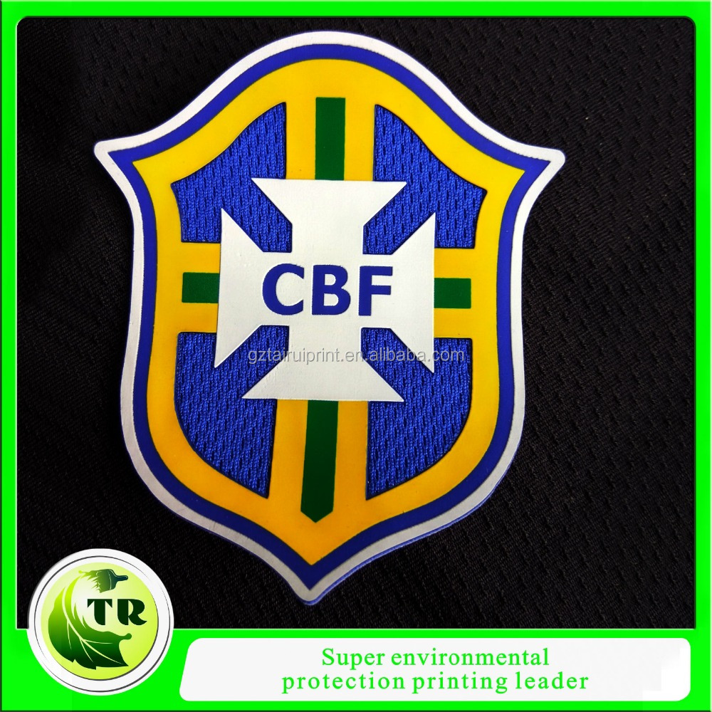 Brazil football club silicone transfer labels /badges