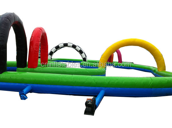primary colorful inflatable rc car track, race track, inflatable racing track