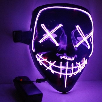 Custom Halloween Mask New Year LED Mask Great for Festival Cosplay Halloween Light Up Mask