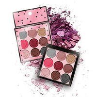 9 Colors High Quality Color Eyeshadow With Contour Highlight Magnetic Eyeshadow Palettes