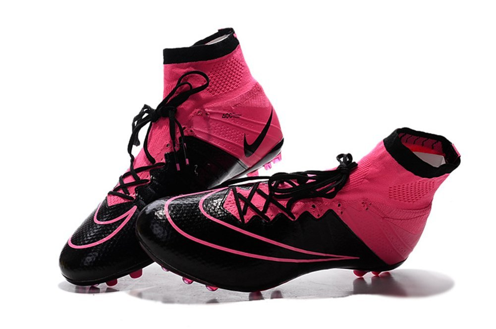 low priced fc7a8 b63e7 Get Quotations · MonicKruh Shoes Mens Mercurial Superfly AG Pink Football Soccer  Boots Size US11