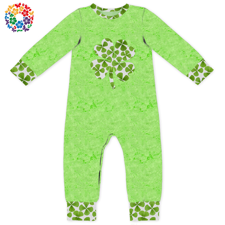 054e10e3d60 Baby Plain Green Color St. Patricks Day Rompers 2 Year Old Baby Girls  Rompers Boutique Baby Clothes Romper