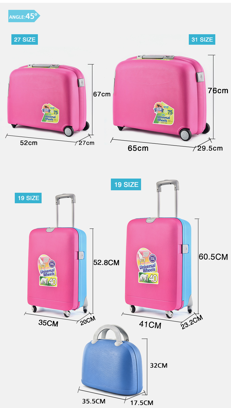 BUBULE China Factory Resistance PP Suitcase Trolley Travel Bags Luggage Set