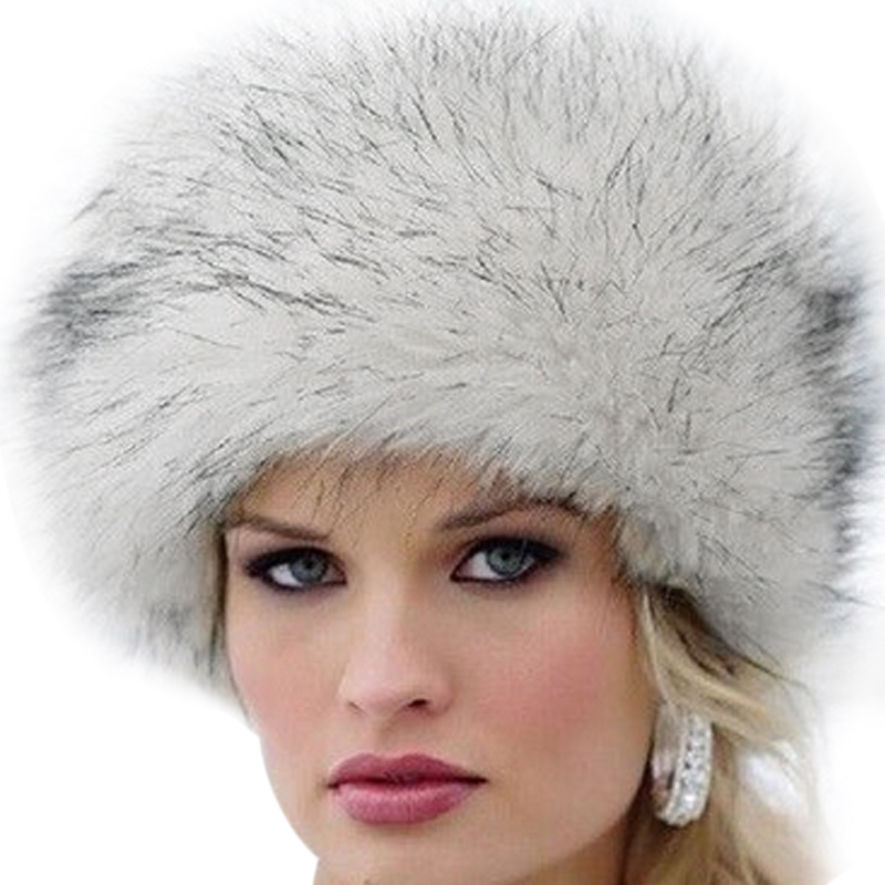 Acquista 2017 New Fashion Inverno Donna Faux Fur Cap Fluffy Fox ... 703014db8a02