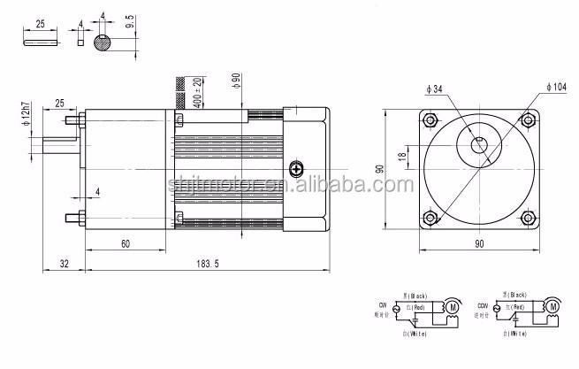 single phase 220v 50hz electric ac motor 150 rpm