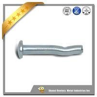 zinc plated grade 8.2 carbon steel mushroom head spike-drive anchors