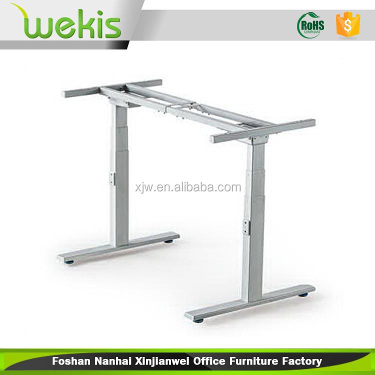 ได้รับการรับรองไฟฟ้าขาโต๊ะสความสูงโต๊ะปรับกรอบเพื่อโต๊ะยืน