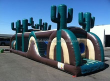 Cactus fantasy run inflatable obstacle, inflatable games jumping castle