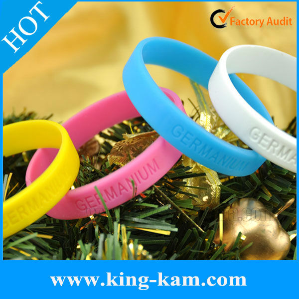 Make your own bracelet silicone rubber arm bands,customized wristband