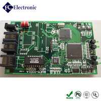 Shenzhen pcb prototype 4-layer green printing ink manufacturing for communication board