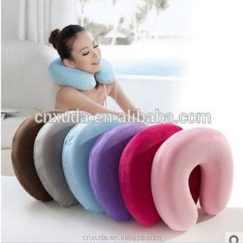 U Shape 100 Polyester Neck Support High Density Contour Memory Foam