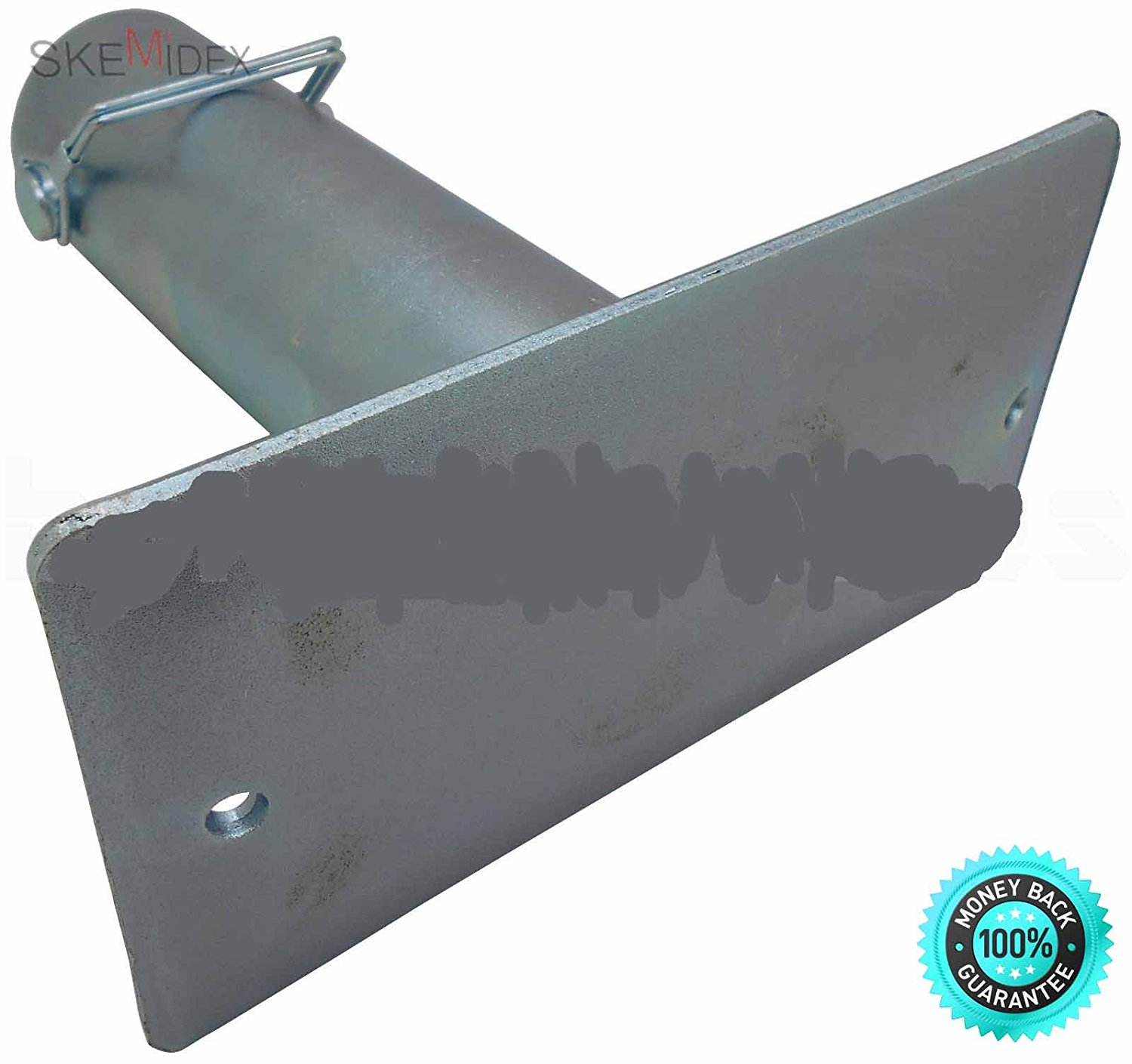 """SKEMiDEX--- RV Trailer Canopy 7-1/2"""" Tongue Jack Foot Stand Foot 2,000Ibs Zinc Plated H-D Carbon steel body with zinc plated. Easy to install and remove. 7-1/2"""" stand foot. Base Dimension: 13/32"""" x 4."""