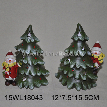 ceramic snowman and tree for 2017 christmas ornaments - Ceramic Christmas Ornaments