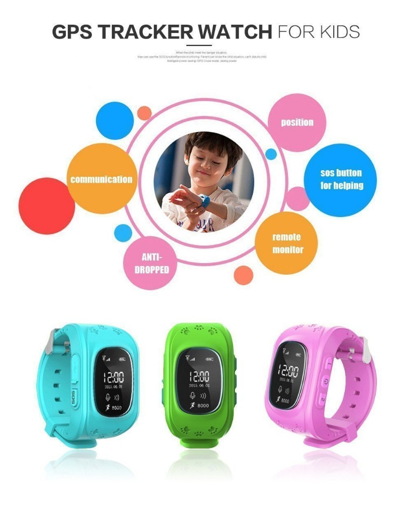 Online Shopping India Smart Children Watch Q50 GSM GPRS GPS Locator Tracker Anti-Lost Child Guard