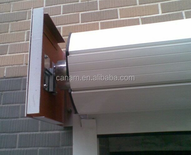 Aluminum energy saving roller shutter window