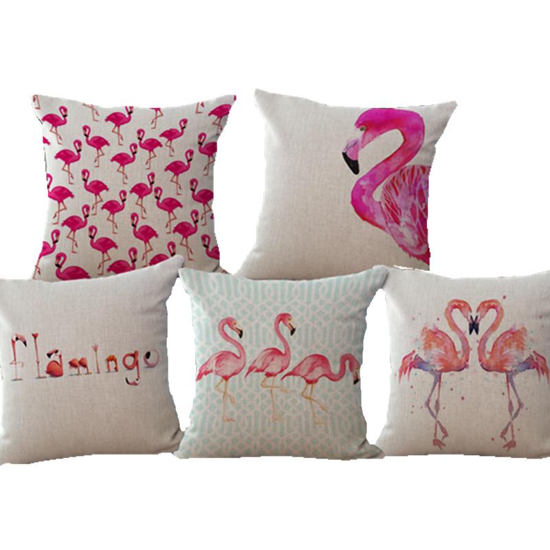 Aliexpress.com : Buy Watercolor Flamingo Decorative Pillow