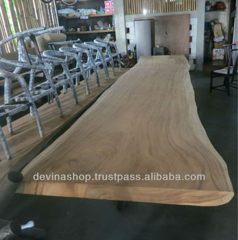 16 4 Ft Acacia Slab Wood Dining Table Of Suar