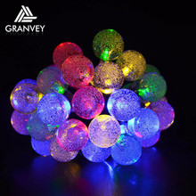 led solar powered glass personalized bulk christmas ball ornaments lights hanging ball lights