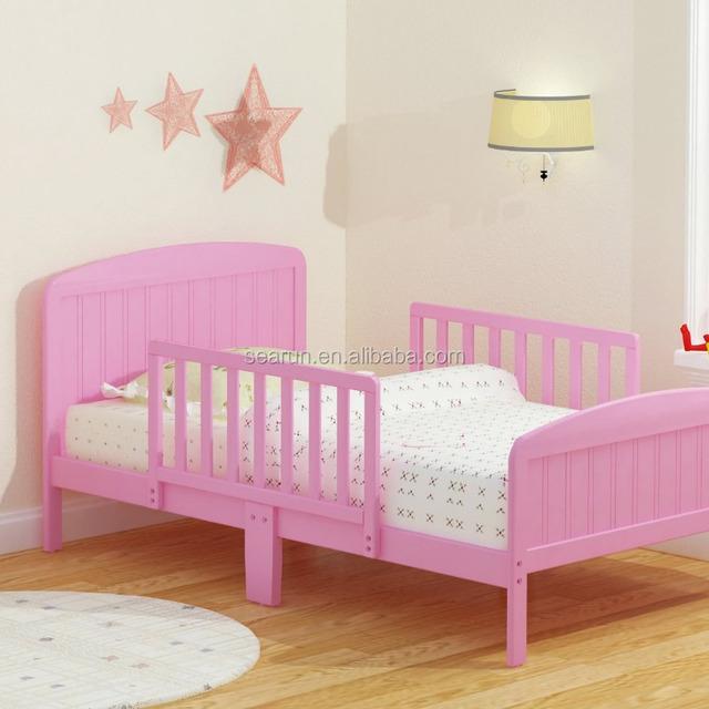 Pink Wood Toddler Bed Children