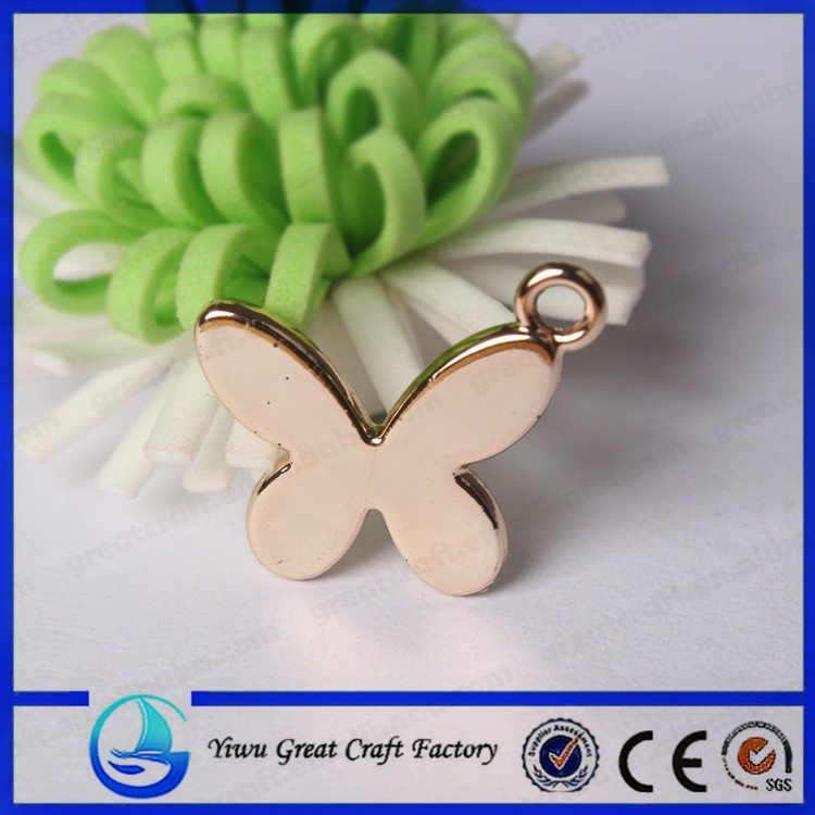 Smooth butterfly accessories supply Three-dimensional butterfly pendant
