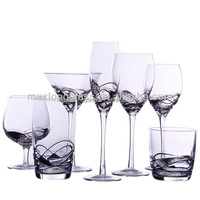 Handmade Unique painted wine glass designs