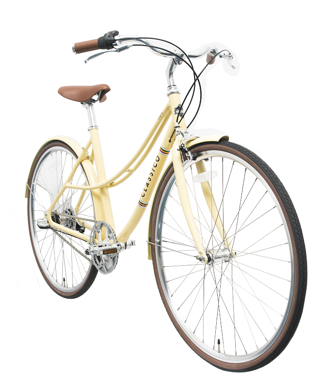 Enwe New Product 700C 6061 Aluminum Alloy Classic Retro Internal 3 Speed Lady's City Bike City Urban Bicycle
