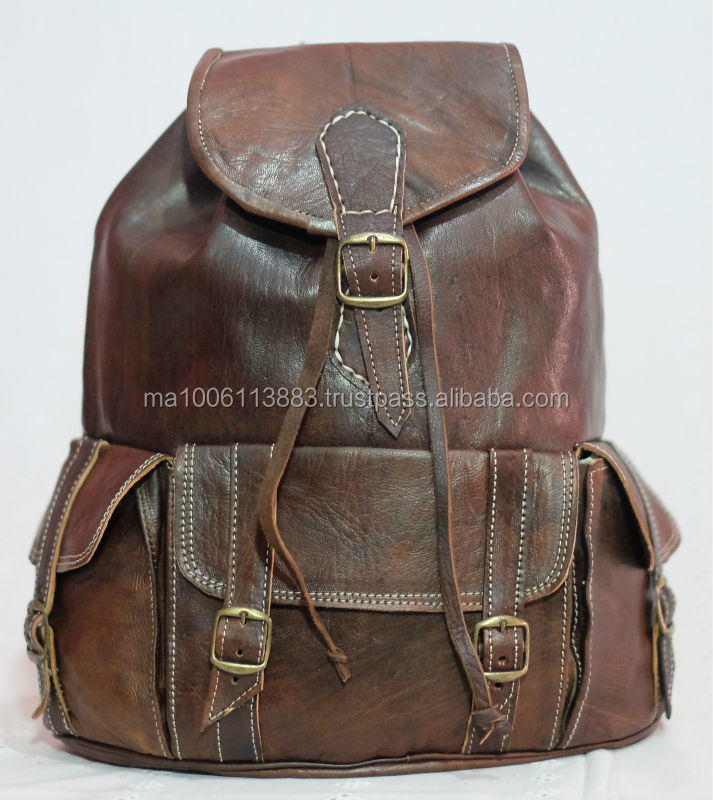 cheaper handcrafted natural genuine leather shoulder bag 2014 from morocco