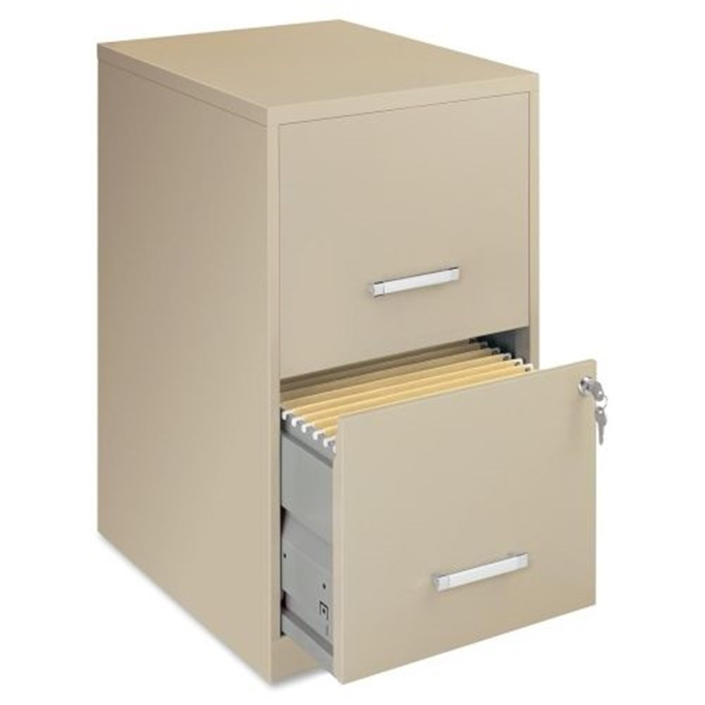 "NEW filling cabinet Steel File Cabinet, 2-Drawer, 14-1/4""x18""x24-1/2"", Putty"