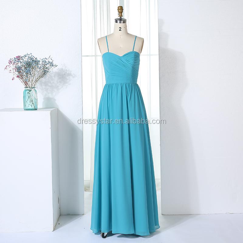 581861c1e Azul al por mayor barato sin tirantes elegante de la gasa de la dama de  honor