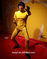 Realistic sculpture Vivid Lifesize Wax silicone Figure of Bruce lee action kungfu movie star