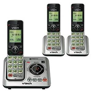 Vtechiuml;iquest;frac12; quot;CS6629-3 Cordless Digital Answering System, Base and 2 Additional Handsetsquot; quot;Telephone line cord, telephone base power adapter, battery compartment cover, battery, wall mount bracket, abridged users manual and quick start guidequot; Unit of measure: EA,