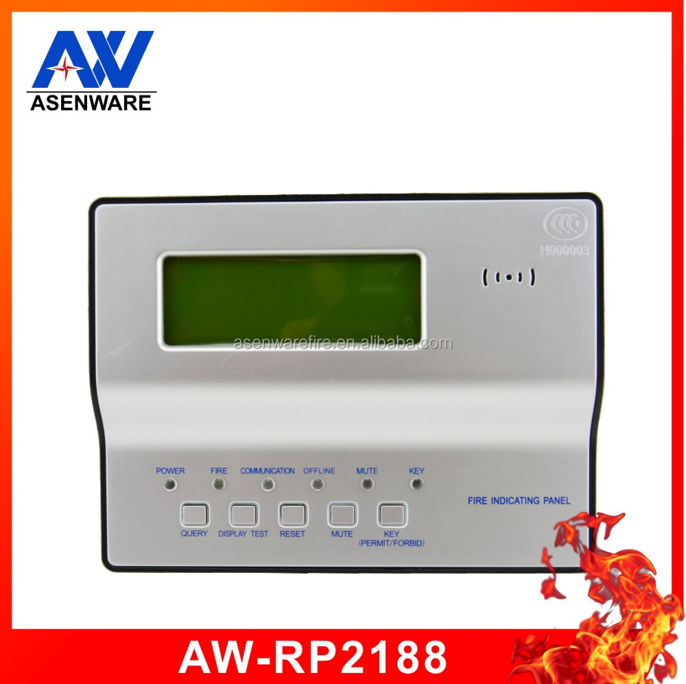 Lcd Display Repeater Addressable Remote Fire Alarm Annunciator Panel ...