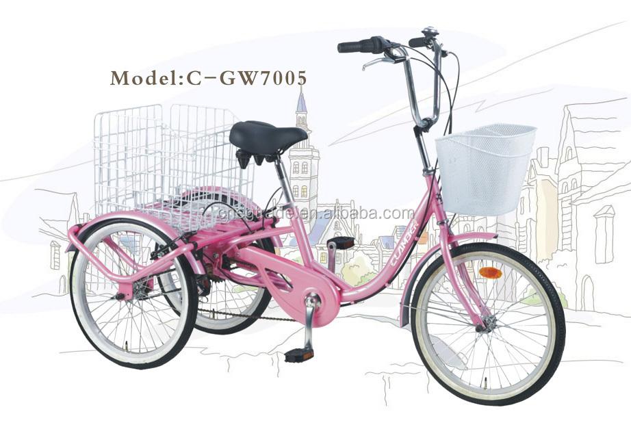 Trike Bicycle 3wheels Bike 7speeds Bicycle V Brake Adult Tricycle