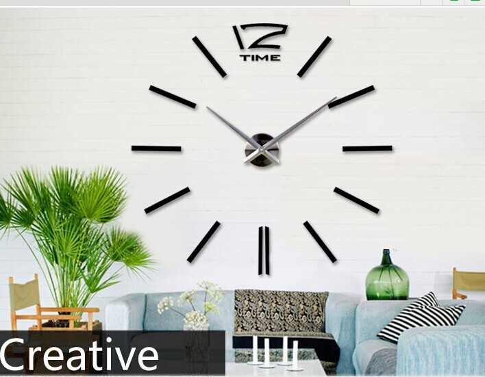 Different Types Of Wall Clocks DIY 3D Wall Clock Home Decor Bell Cool  Mirror Stickers Art