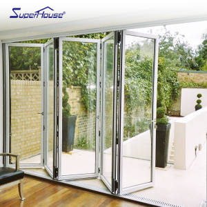 American CSA Standard folding door design accordion glass folding doors