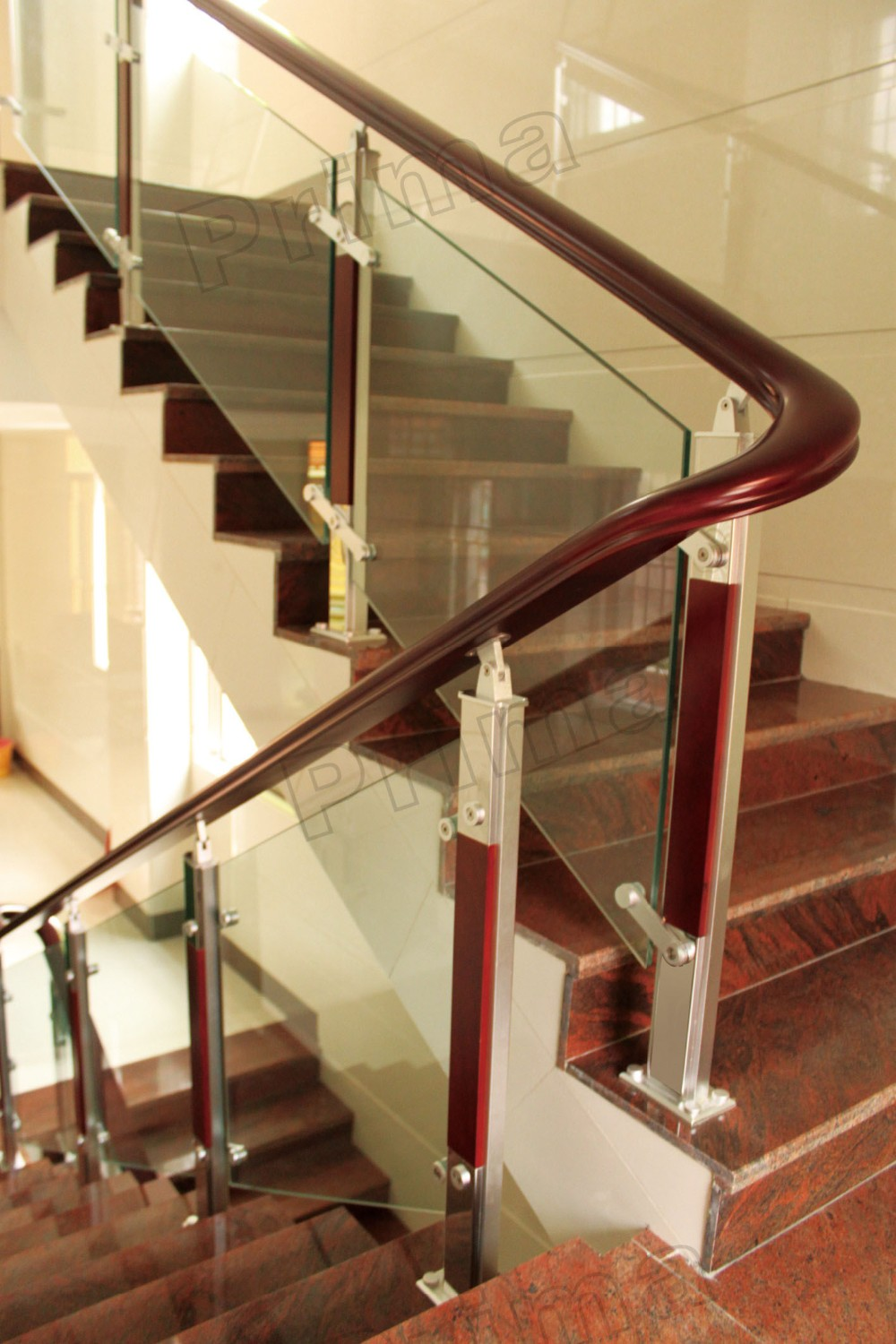 Interior Glass Railing Single Cantilever Steel Beam