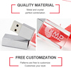 2017 shenzhen manufacturer hor selling promotion gift laser logo LED crystal usb flash drive
