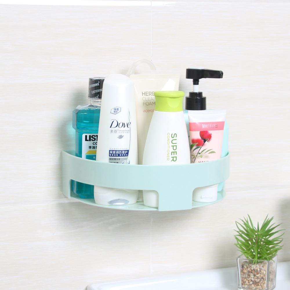 Bathroom Accessories Set Adhesive Plastic Corner Shower Shelves Shelf