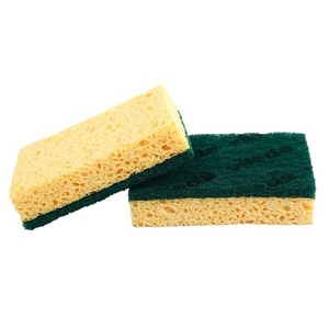 Bulk Extra Abrasive Cleaning Scouring Pad Compressed Kitchen Sponge Cellulose Scrub Sponge