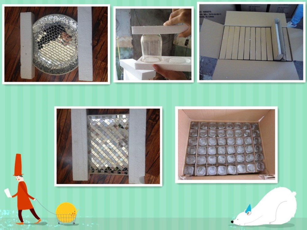 decorative mirror glass mosaic plate