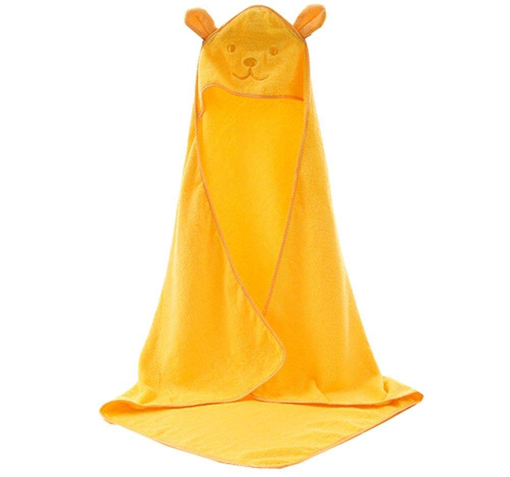 Blancho Bedding Baby Soft Cotton Breathable Bath Towel Kids Bathcloth Cloak Bathrobe 0-7 Years(Yellow)
