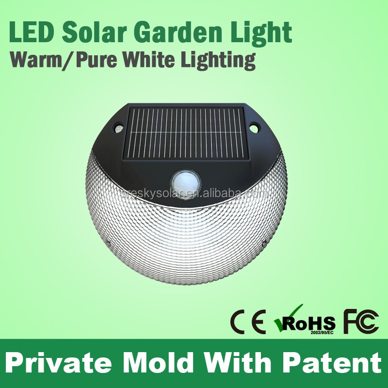 Modern European Garden Wireless Pir Motion Sensor Outdoor Solar Light