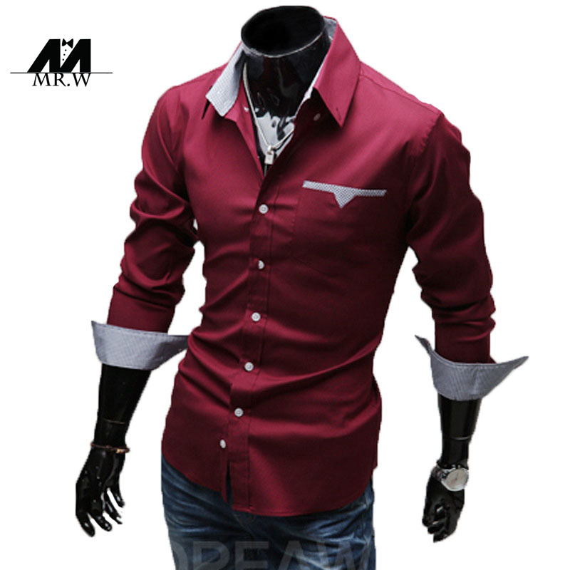 227fc87f14c4 Buy New 2015 Autumn Men Shirts Long Sleeve Casual Shirt Camisa Social  Masculina Business Polka Dot Slim Fit Mens Clothes M-LC017 in Cheap Price  on ...