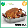 Wholesale 100% food grade eco-friendly Non Stick Roaster with V Shape Rack