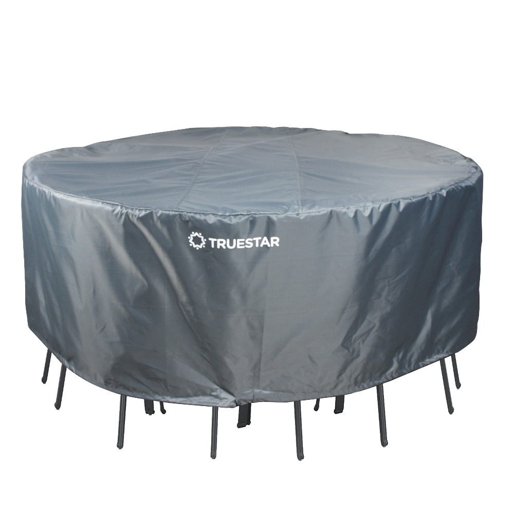 210d Round Patio Table Chair Set Cover Heavy Duty Outdoor Furniture With Waterproof Backing