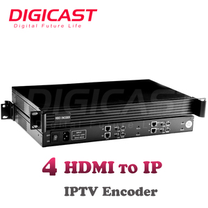 Cheap 4-channel HD 1080P iptv streamer h.265 h.264 hardware encoder hotel tv system