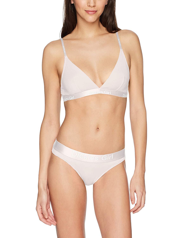 fa7c929aee148f Get Quotations · Dickies Girl Women s Dual Tone Triangle Bra and Bikini Set